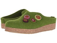 Haflinger Chloe Green Women's Clog Shoes