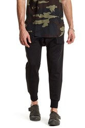 Hip And Bone Shadow Scuba Mesh Jogger Black
