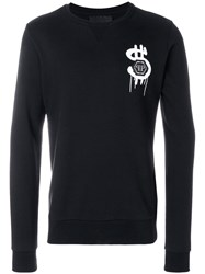 Philipp Plein Cross Alec Sweater Cotton Black