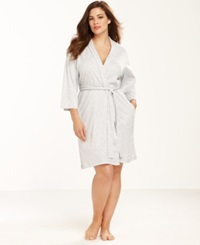 Jockey Plus Size Cotton Interlock Robe Grey
