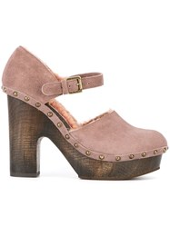 L'autre Chose Studded Platform Pumps Pink And Purple
