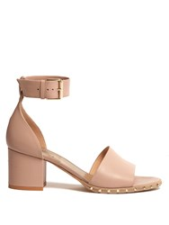 Valentino Soul Rockstud Leather Sandals Nude
