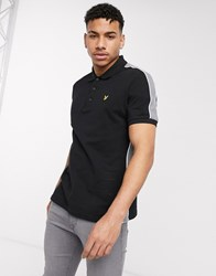 Lyle And Scott Arm Panel Polo In Black