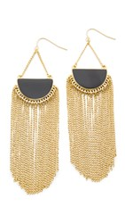 Adia Kibur Madison Earrings Black Gold