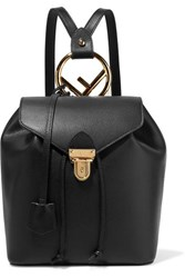 Fendi Textured Leather Backpack Black