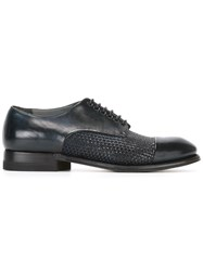Silvano Sassetti Woven Derby Shoes Blue