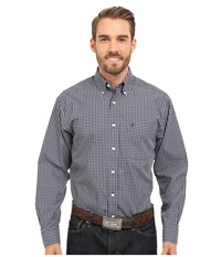 Ariat Irving Wrinkle Free Shirt True Navy Men's Long Sleeve Button Up