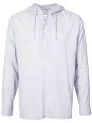 Onia Relaxed Fit Hoodie Blue