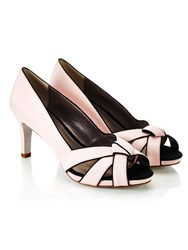 Jacques Vert Piped Knot Platform Shoe Pink