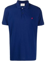 Peuterey Short Sleeved Polo Top Blue