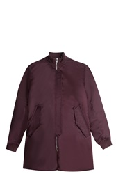 Acne Studios Satin Bomber Jacket Red