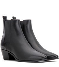 Saint Laurent Rock 40 Leather Chelsea Boots Black