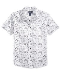 American Rag Men's Graphic Print Short Sleeve Shirt Only At Macy's Bright White