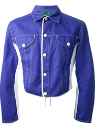 Jean Paul Gaultier Vintage Colour Block Denim Jacket Blue