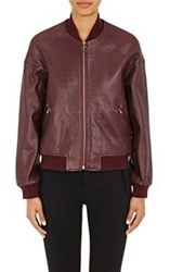 Surface To Air Calfskin Bomber Jacket Red Size 34 It