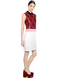 Mary Katrantzou Damask Lurex Jacquard And Satin Dress