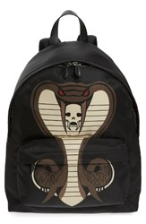 Givenchy Men's Cobra Print Nylon Backpack