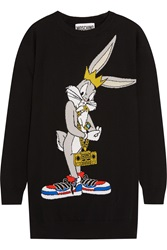 Moschino Bugs Bunny Intarsia Wool Sweater Dress