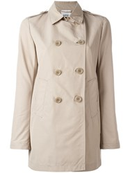 Aspesi Double Breasted Coat Nude Neutrals
