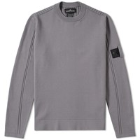 Stone Island Shadow Project Stretch Wool Intarsia Crew Grey