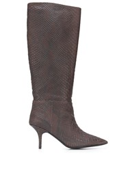 Yeezy Snakeskin Effect 70 Knee High Boots 60