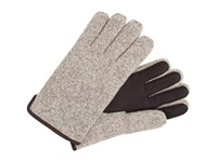 Ugg Calvert Side Vent Glove With Leather Palm Oatmeal Heather Dress Gloves Beige