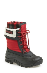 Kamik 'Sugarloaf' Waterproof Boot Women Red Black Plaid
