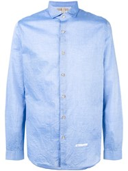 Dnl Spread Collar Shirt Blue