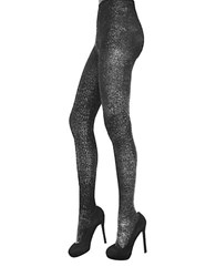 Zac Posen Metallic Lurex Fashion Tights