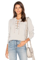 Young Fabulous And Broke Noelle Sweater Light Gray