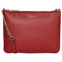 Modalu Twiggy Leather Across Body Bag Cherry Red
