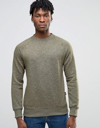 Esprit Crew Neck Sweat With Raglan Sleeve Khaki 350 Green