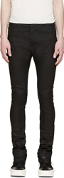 Julius Black Coated Slim Jeans