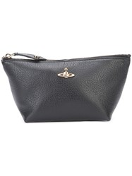 Vivienne Westwood 'Balmoral' Cosmetic Case Unisex Leather One Size Black