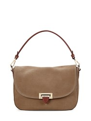 Aspinal Of London Letterbox Slouchy Saddle Bag Brown