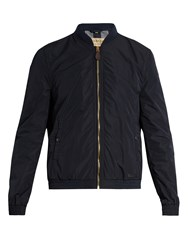 Burberry Zip Up Lightweight Bomber Jacket Navy