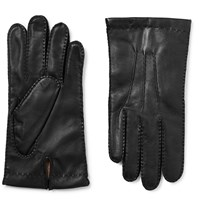 Dents Shaftesbury Touchscreen Cashmere Lined Leather Gloves Black