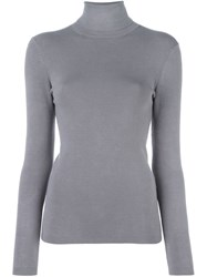 Joseph Turtle Neck Jumper Grey