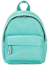 Coach Front Pocket Mini Backpack Blue