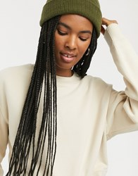 Monki Anny Cropped Sweatshirt In Taupe Beige