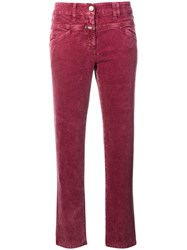 Closed Slim Fit Trousers Pink And Purple
