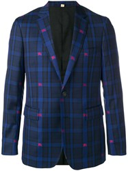 Burberry Equestrian Knight Check Jacket Blue