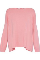Alice Olivia Woman Tie Back Knitted Sweater Baby Pink