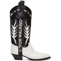 Off White Black And Cowboy Boots