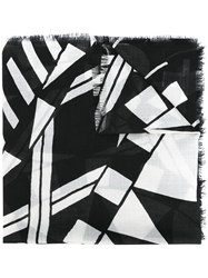Givenchy Geometric Pattern Scarf Black