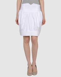 Miriam Ocariz Knee Length Skirts White