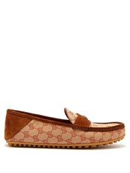Gucci Kanye Gg Supreme Loafers Brown