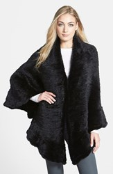 Women's Belle Fare Genuine Mink Knit Shawl