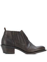 Fiorentini Baker Stitched Detail Ankle Boots Brown