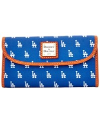 Dooney And Bourke Los Angeles Dodgers Large Continental Clutch Blue
